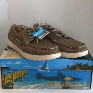 New Men's Margartaville Boat Shoes 9.5